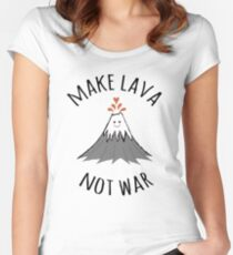 MAKE LAVA NOT WAR Women's Fitted Scoop T-Shirt