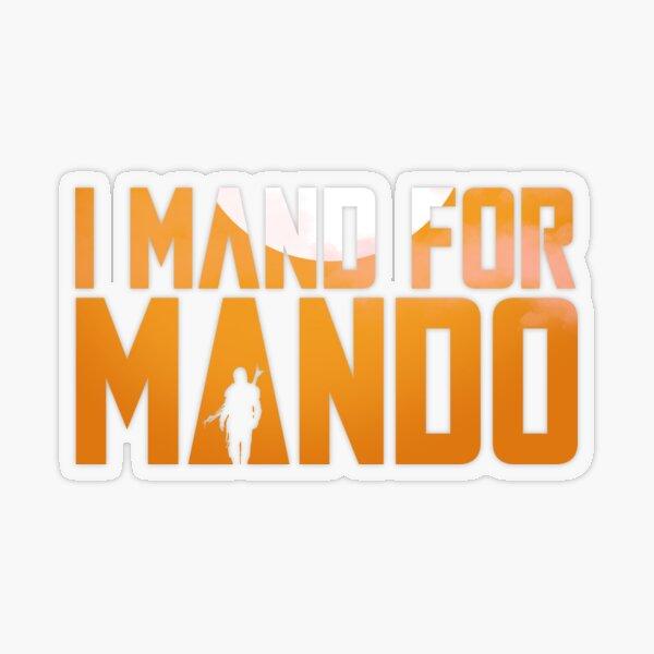 Mando Loves ABA Transparent Sticker