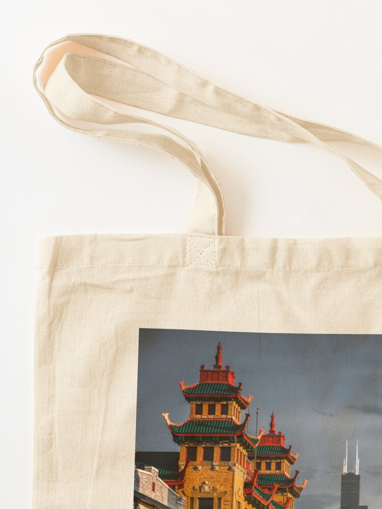 Alternate view of Chinatown in Chicago Tote Bag