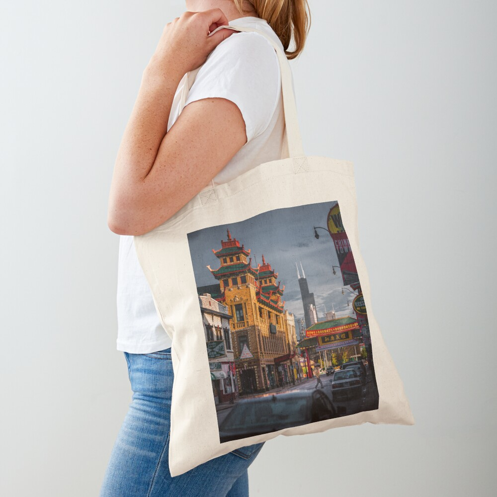 Chinatown in Chicago Tote Bag