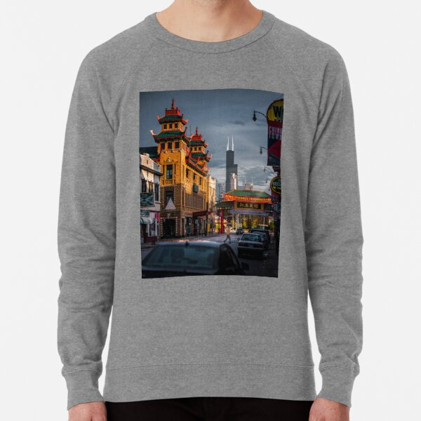 Chinatown in Chicago Lightweight Sweatshirt