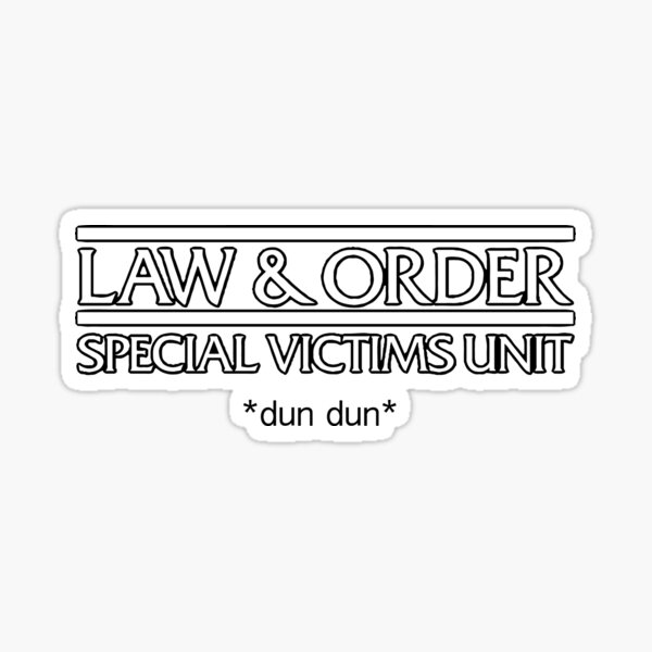Law and Order:SVU Sticker