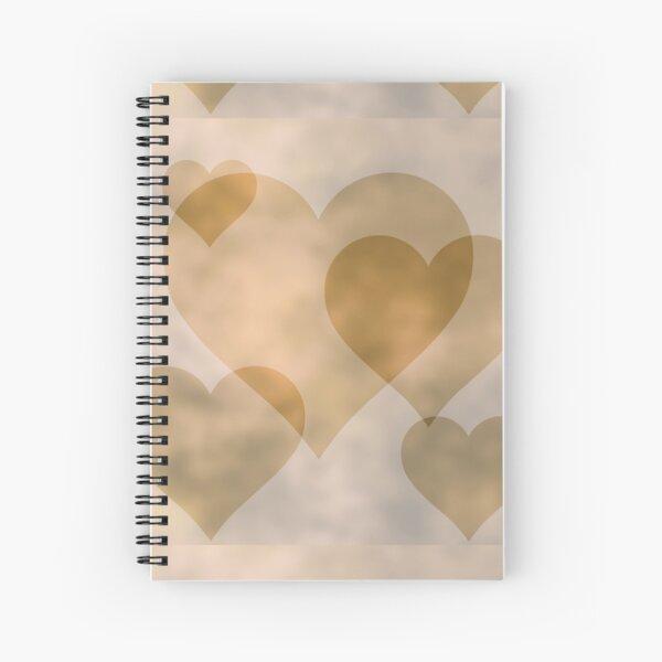 Old Parchment Hearts - Valentine's Day Pattern Spiral Notebook