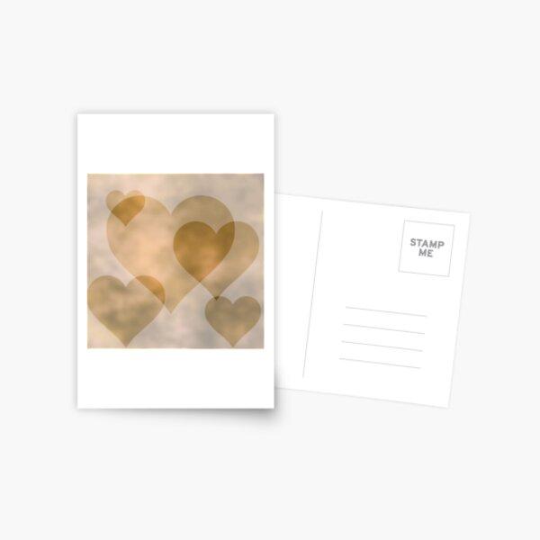 Old Parchment Hearts - Valentine's Day Pattern Postcard