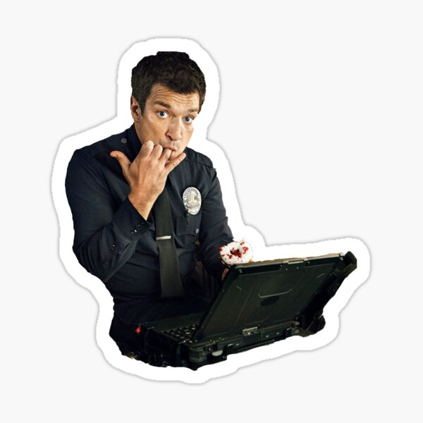 Nathan Fillion is The Rookie Sticker