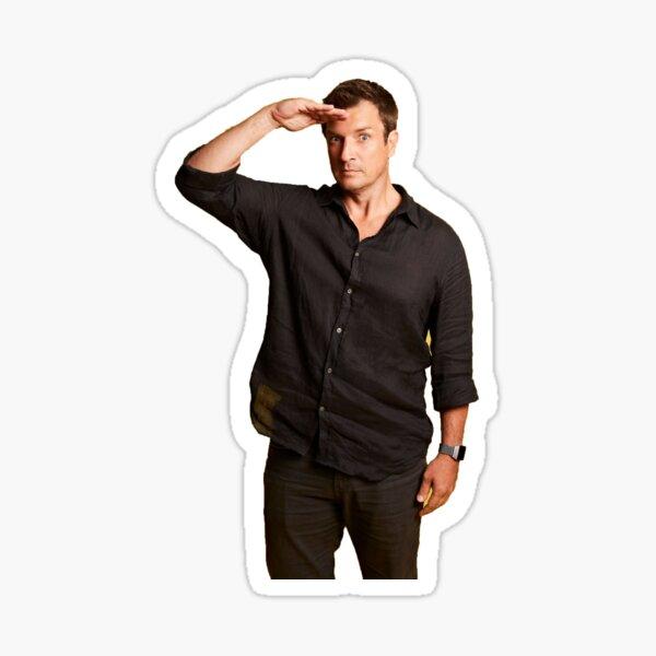 Nathan Fillion Salut Sticker