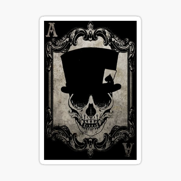 Voodoo-Affe Schädel Ace of Spades Sticker