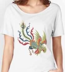 Chinese Rooster Asian Art Women's Relaxed Fit T-Shirt