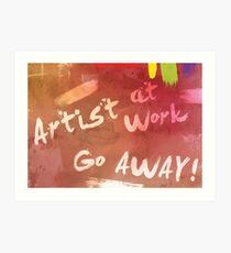 Artist at Work Welcome Sign Art Print