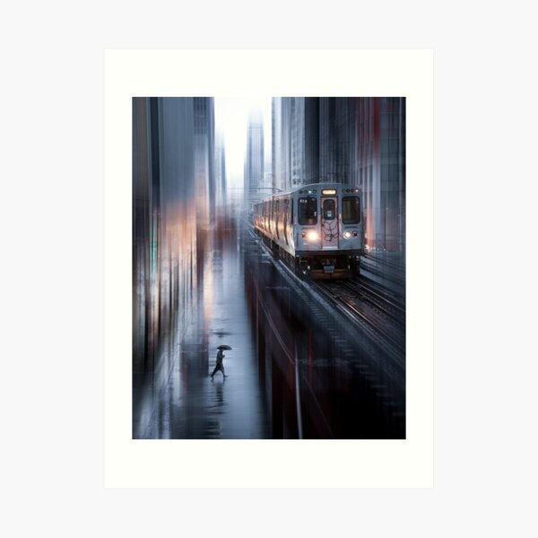 Chicago Train Art Print