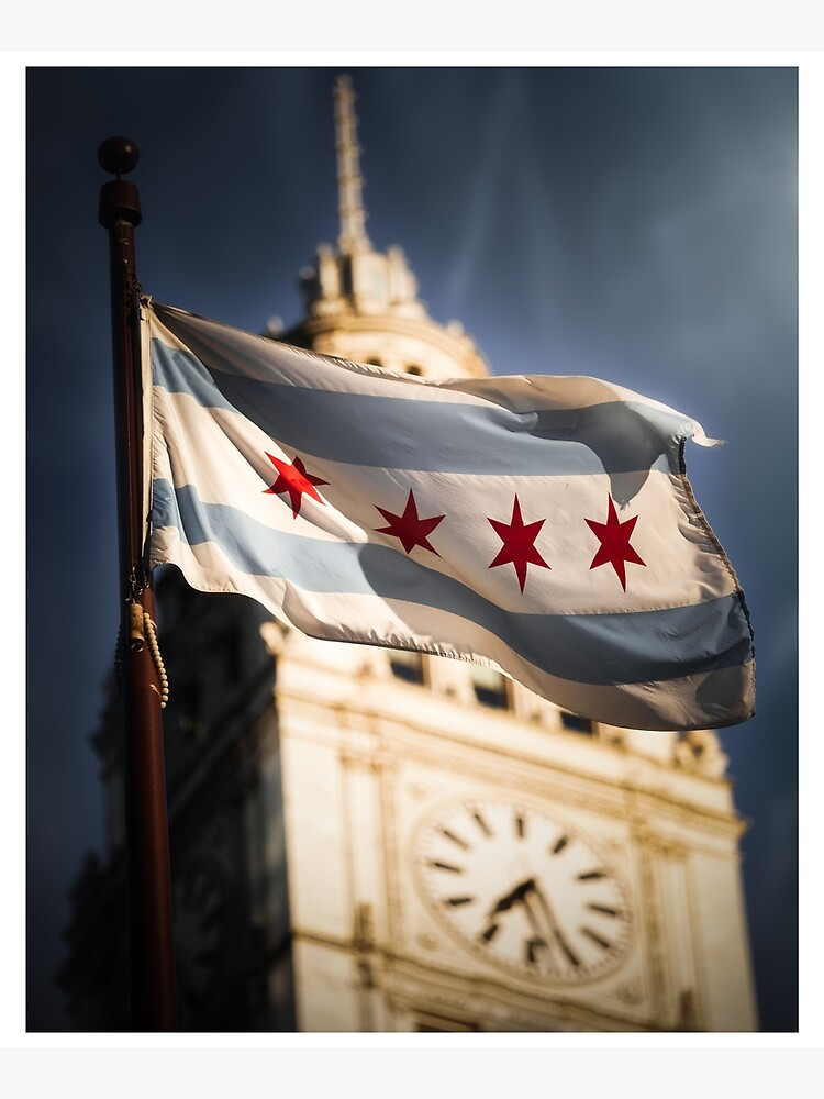Chicago Flag by HudsonPhotos
