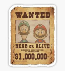 WANTED Brothers  Sticker