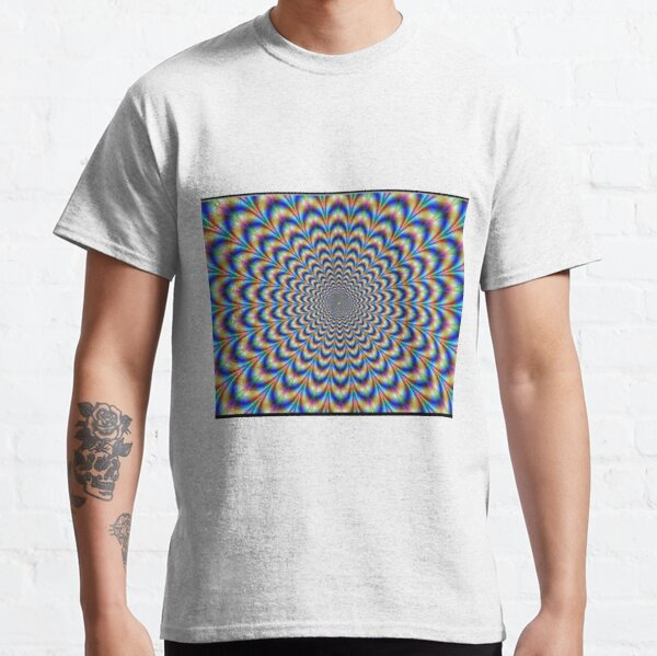 Optical illusion Trip can use color, light and patterns to create images that can be deceptive or misleading to our brains.  Classic T-Shirt