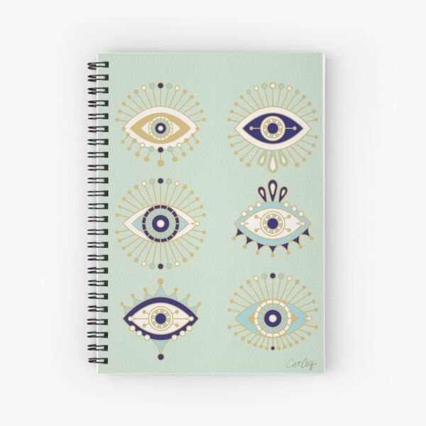 Evil Eye Collection Spiral Notebook