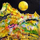 World Series C-4 Night Moon by ksgfineart