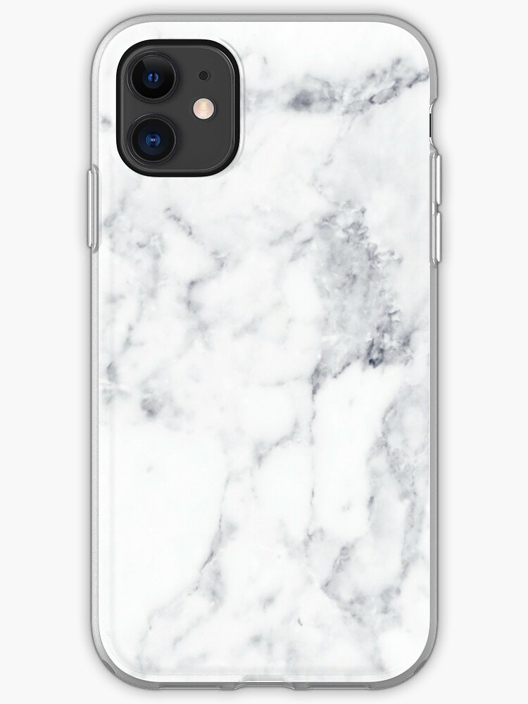 white Marble Pattern iphone case