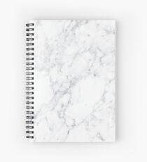 White Marble Spiral Notebook