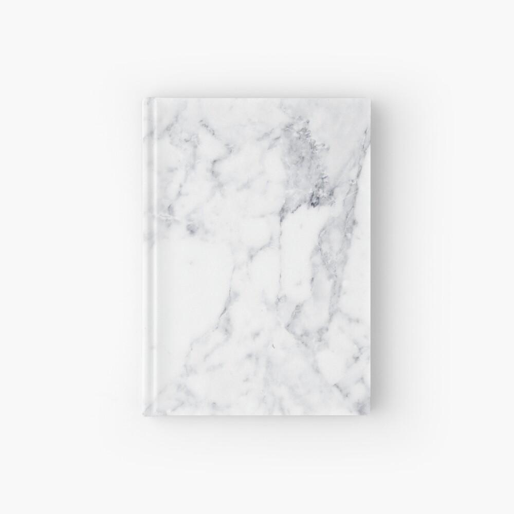 Weisser Marmor Notizbuch