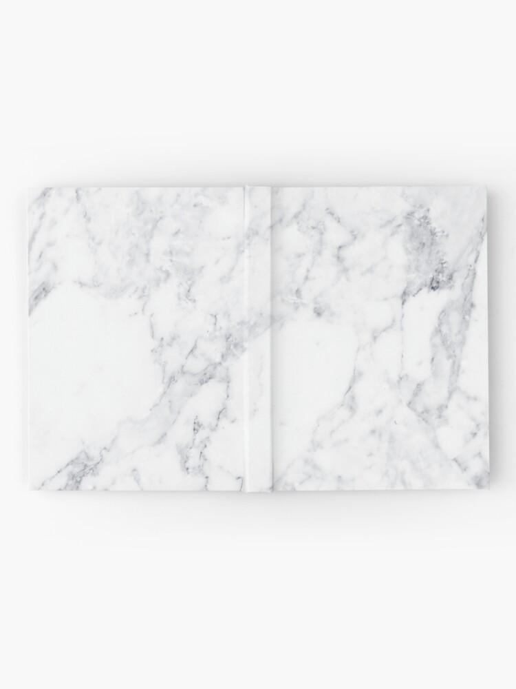 Alternative Ansicht von Weisser Marmor Notizbuch