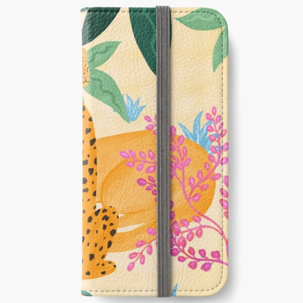 Panthers in Magical Garden iPhone Wallet