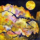 World Series C-6 Night Moon by ksgfineart