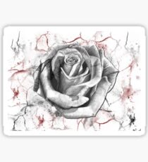 the cracked rose Sticker