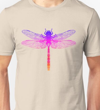 Psychedelic Colorful Dragonfly T-Shirt