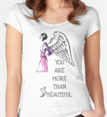 Angel Woman-Beautiful Women's Fitted Scoop T-Shirt