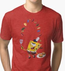 Spongebob and Krabby Patties Tri-blend T-Shirt