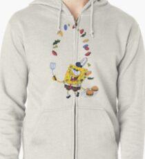 Spongebob and Krabby Patties Zipped Hoodie