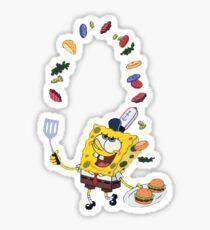 Spongebob and Krabby Patties Sticker