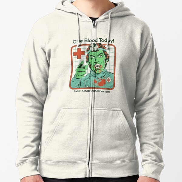 Give Blood Today Zipped Hoodie