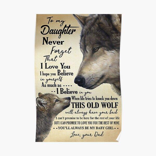 Papá a la hija del lobo: siempre serás mi niña Póster