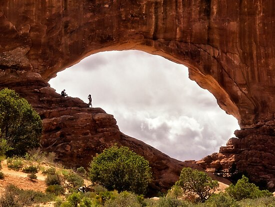 Arches Window - Arches National Park, Utah by Kathy Weaver