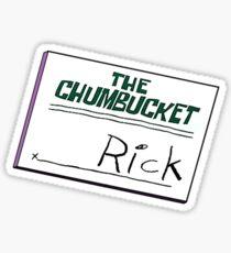 Rick Nametag - Spongebob Sticker