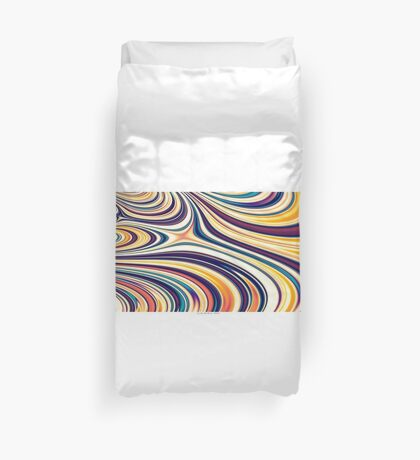 Color and Form Abstract - Curved Rounded Lines Flowing  Duvet Cover