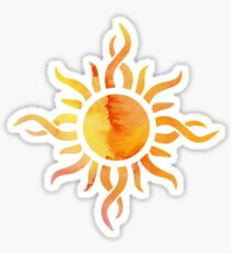 Watercolor Sun Sticker