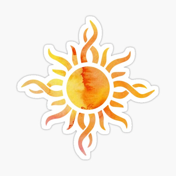 Watercolor Sun Sticker