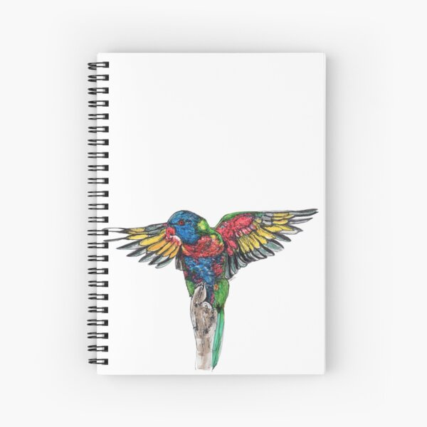 Delilah the Rainbow Lorikeet Spiral Notebook