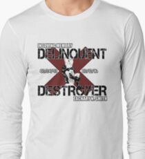 Delinquent Destroyer Tribute Shirt 1 [Square Design] Long Sleeve T-Shirt