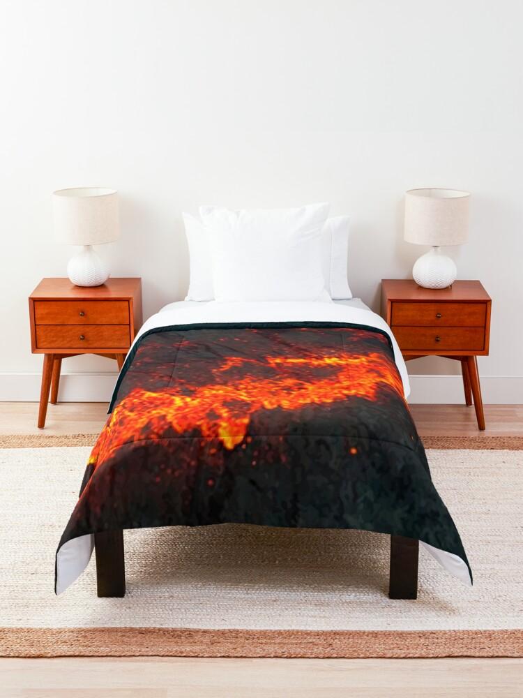 Alternate view of Lava (Magma) Comforter