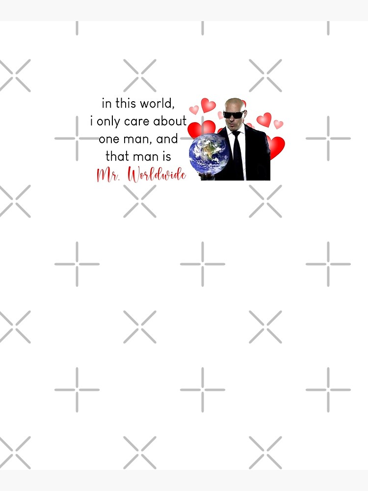 in this world, i only care about one man, and that man is mr. worldwide by PigSucculent