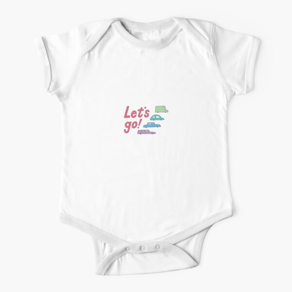 let's go! Short Sleeve Baby One-Piece