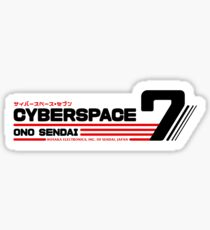 Hosaka Ono-Sendai Cyberpace 7 (Black Horizontal version) Sticker