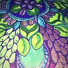 Grape Glittery Pattern by MizMeliz