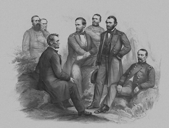 President Lincoln and His Commanders by warishellstore