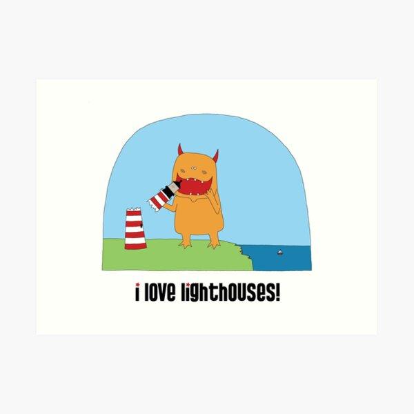i love lighthouses! Art Print