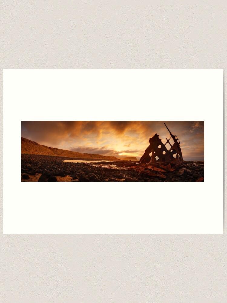 Alternate view of Speke Wreck, Phillip Island, Victoria, Australia Art Print
