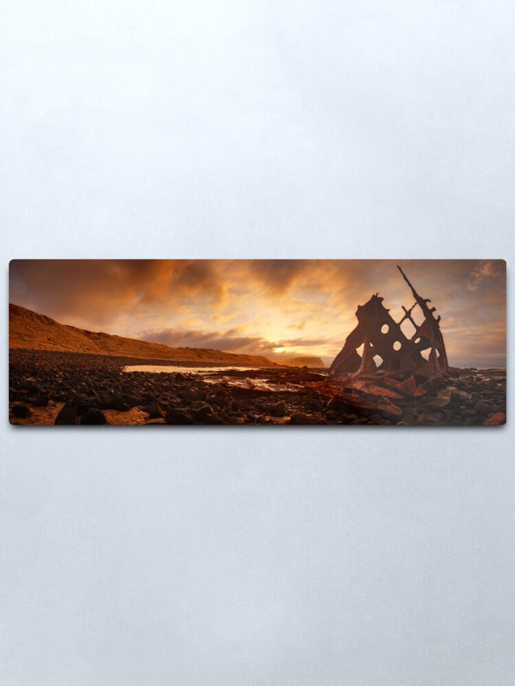Alternate view of Speke Wreck, Phillip Island, Victoria, Australia Metal Print
