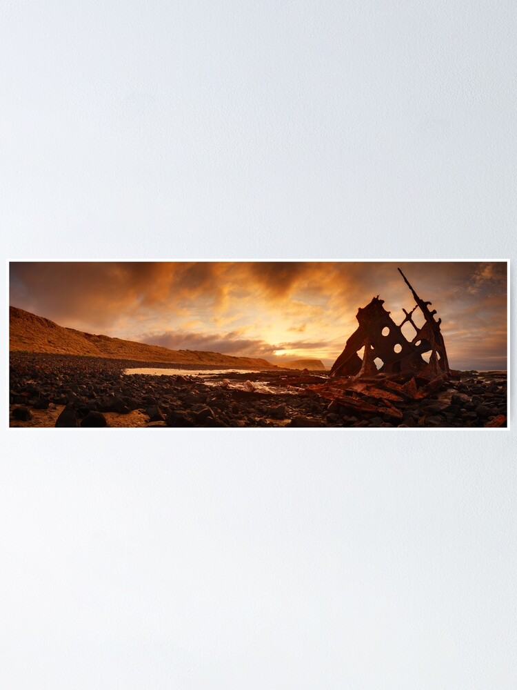 Alternate view of Speke Wreck, Phillip Island, Victoria, Australia Poster
